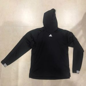 Adidas Pullover with crossover hoodie